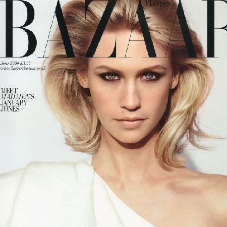 january jones : harpers bazaar uk june 2009 Â« latest modeling news ...